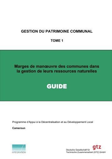 Gestion du patrimoine communal - Centre Technique de la Forêt ...