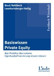 4. Private Equity als Finanzierungsalternative: Die ... - Linde Verlag