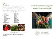 Grenseløse grønnsaker og urter - Hageselskapet