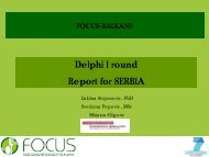Delphi I round Report for SERBIA - Focus-Balkans