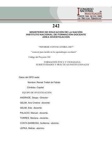 242 - Centro de Documentación - Instituto Nacional de Formación ...