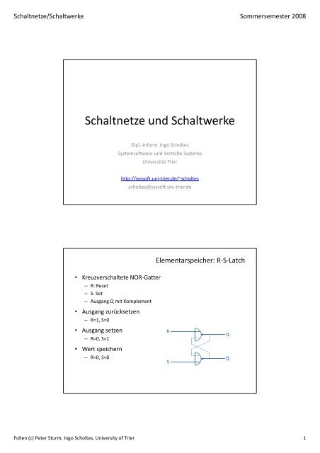Download der Folien - Systemsoftware und Verteilte Systeme ...