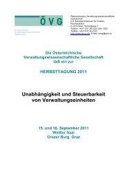 Einladung und Programm - Österreichische ...