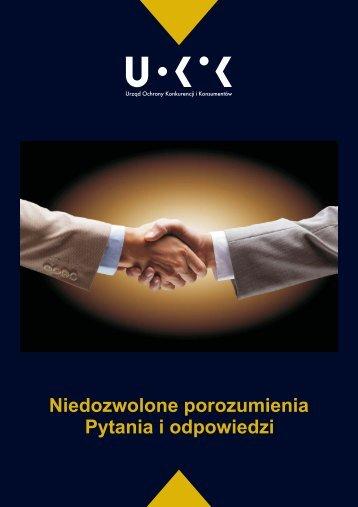 Niedozwolone porozumienia Pytania i odpowiedzi