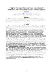 vyšetřování elektromagnetické kompatibility drážních ... - Railvolution