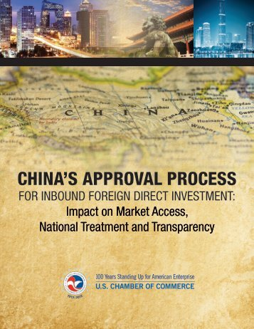 CHINA'S APPROVAL PROCESS - US Chamber of Commerce