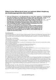 Widerruf einer Stiftung durch einen von mehreren ... - privatstiftung.info