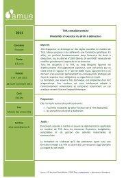 TVA complémentaire Modalités d'exercice du droit à déduction - Amue