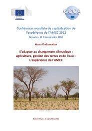S'adapter au CC: agriculture, gestion des terres et de l'eau