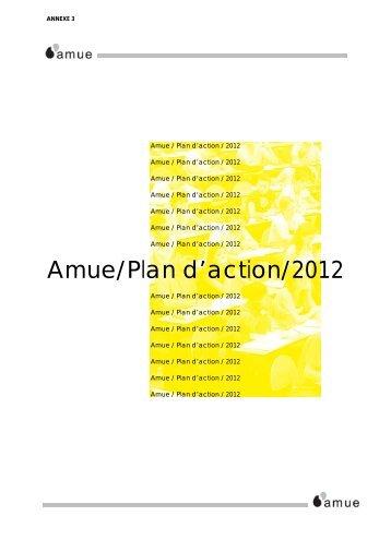 Amue/Plan d'action/2012