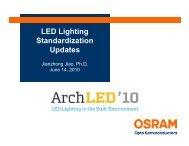 LED Lighting Standardization Updates - Architectural SSL