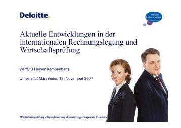 WP/StB Heiner Kompenhans - wuestemann - Universität Mannheim