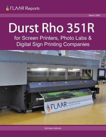Durst Rho 351R - Wide-format-printers.org