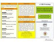e-VIBS Workshop - Universiti Malaysia Sabah