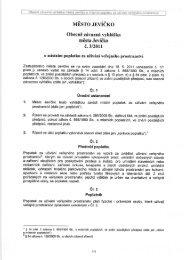 Obecně závazná vyhláška města Jevíčko č. 3/2011, o místním ...