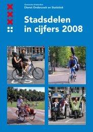 Stadsdelen in cijfers 2008 - Onderzoek en Statistiek Amsterdam