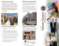 Career Center Brochure - The Career Center - Florida State University