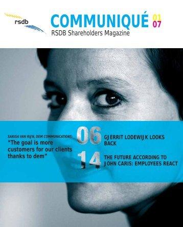 COMMUNIQUÉ 01 - Roto Smeets Group