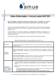Note d'information > Accord cadre SAP BO - Amue