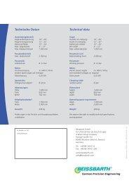 Technische Daten Technical data - Bosch Service - Perú
