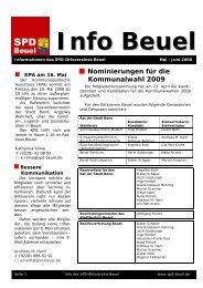 Nominierungen für die Kommunalwahl 2009 - SPD Beuel