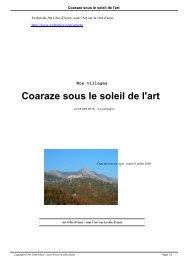 Coaraze sous le soleil de l'art - Art Côte d'Azur