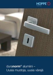 duranorm® alumiini – Uusia muotoja, uusia värejä