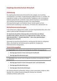 Einjährige Berufsfachschule Wirtschaft Zielsetzung ... - bbs1celle