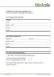 Praktikumsvertrag (Hauptschulabsolventen) zur Vorlage ... - bbs1celle