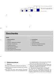 Geschenke - Partnerschaftsgesellschaft Kronwald Steuerberater