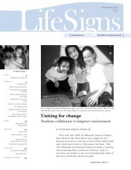LifeSigns, July-Aug 2012 - Sisters of the Holy Cross