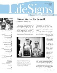 Forums address life on earth - Sisters of the Holy Cross