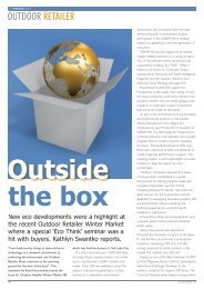 Outdoor Retailer Show, Outside the Box Eco ... - FabricLink