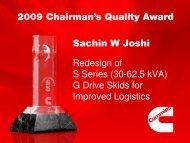 Sachin W Joshi Redesign of S Series (30-62.5 kVA) G ... - Cummins