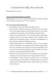Informationen für Ärzte 1 2013 - steuerkanzlei-schaller.de