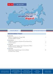 No.100: Russian Energy Policy - Center for Security Studies (CSS)