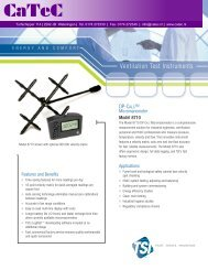 Ventilation Test Instruments