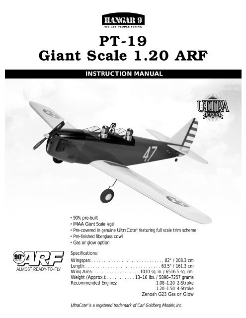 HAN PT-19 manual - Hangar 9