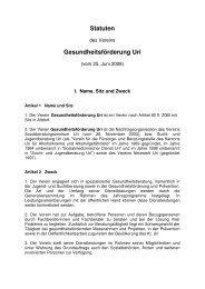 Statuten Verein - Kontakt Uri