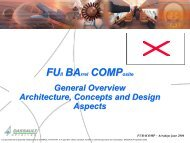 Findings of the FUBACOMP Project and Links to new Developments ...