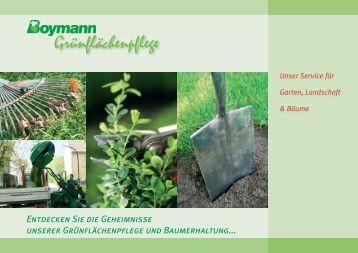 flyer fs garten- und landschaftsbau - philipp-holzmann-schule, Garten und erstellen