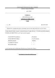 Leggi Delibera n. 138 - Il Parco del Conero