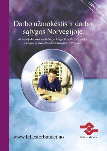 Darbo užmokestis ir darbo sąlygos Norvegijoje - agri-migration