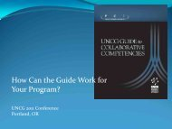 Building Collaborative Competence: What Role for UNCG? - Policy ...
