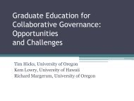 Graduate Education for Collaborative Governance - Policy ...