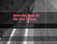 Governing Tools for the 21st Century - Policy Consensus Initiative ...
