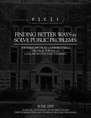 Finding Better Ways to Solve Public Problems - Policy Consensus ...