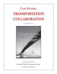 Case Studies: Transportation Collaboration - Policy Consensus ...