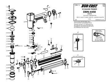 Tool Schematic And Parts Paslode