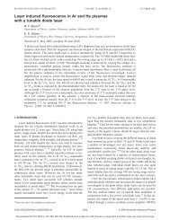 Laser induced fluorescence in Ar and He plasmas with a tunable ...